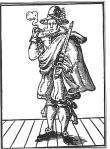 Woodcut of Moll Cutpurse